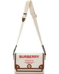 Burberry - ベージュ ミディアム Note ポーチ - Lyst