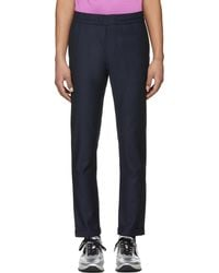 PS by Paul Smith | Navy Elasticized Waist Trousers | Lyst