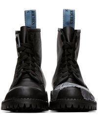 Enfants Riches Deprimes ブラック Adhesive ブーツ