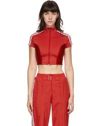adidas Originals Red Paolina Russo Edition Crop T-shirt