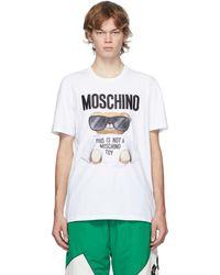Moschino - ホワイト Micro Teddy Bear T シャツ - Lyst