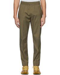 Acne Studios Pantalon en coton kaki Ryder - Multicolore