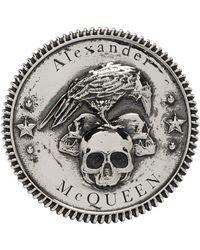 Alexander McQueen - Bague argentee Skull - Lyst