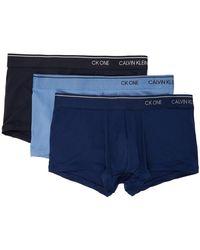 Calvin Klein ブルー Ck One ボクサー 3 枚セット