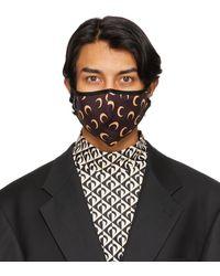 Marine Serre ブラウン & タン ムーン Daily Wear マスク