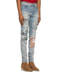 Amiri Blue Military Art Patch Jeans