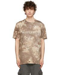 MASTERMIND WORLD - T-shirt brun en coton à motif tie-dye - Lyst