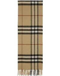 Burberry - Beige Cashmere Giant Icon Check Scarf - Lyst
