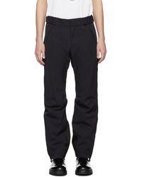 3 MONCLER GRENOBLE Navy Tech Sport Recco® Ski Pants - Black