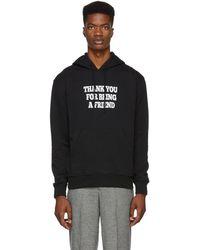 AMI Thank You Printed Hooded Sweatshirt - Black
