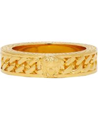 Versace Gold Medusa Band Ring - Metallic