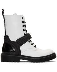 Moncler ホワイト Calypso コンバット ブーツ