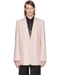 Tibi Ssense Exclusive Pink Long Blazer