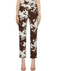 Miaou Pantalon lou brun à motif vache - Marron