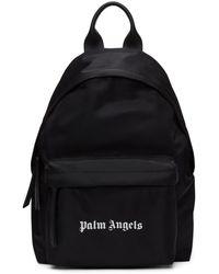 Palm Angels - Sac a dos en nylon a logo noir - Lyst