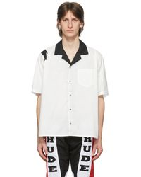 Rhude ホワイト And ブラック ライトニング ショート スリーブ シャツ