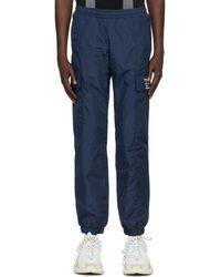 MISBHV Navy Tecno Cargo Trousers - Blue