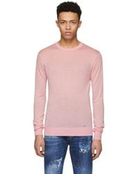 DSquared² - Pink Cashmere Sweater - Lyst
