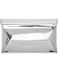MM6 by Maison Martin Margiela - Silver Foldover Card Holder - Lyst