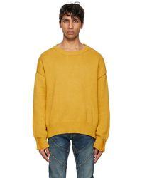 Rhude Yellow Lounge Sweater