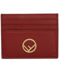 Fendi - Red F Is Card Holder - Lyst