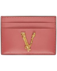 Versace ピンク ヴィルトゥス カード ホルダー