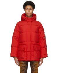 KENZO Red Down Puffer Sport Little X Jacket
