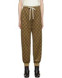 Gucci GG Logo Lounge Pants - Natural