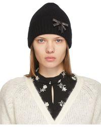 Erdem Bonnet à nœud décoratif - Noir