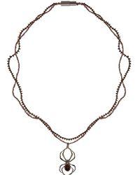Lanvin - Gunmetal Spider Necklace - Lyst