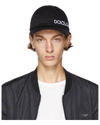 Dolce & Gabbana - ブラック Dna ベースボール キャップ - Lyst