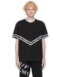 Givenchy ブラック ロゴ チェーン T シャツ