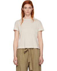 Raquel Allegra - White Sueded Baby Jersey T-shirt - Lyst