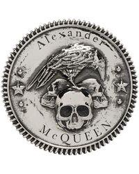 Alexander McQueen シルバー Skull リング - メタリック
