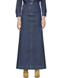 Levi's Ssense Exclusive Indigo Work Skirt - Blue