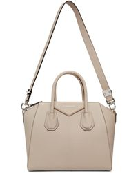 Givenchy - Beige Grained Small Antigona Bag - Lyst