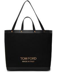 Tom Ford ブラック ミディアム T Screw ショッピング トート