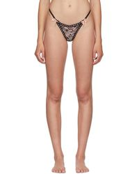 Agent Provocateur Black And Pink Gracelyn Thong
