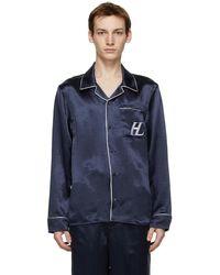 Helmut Lang Navy Pyjama Shirt - Blue