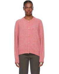 YMC Pink Wool Atomic Cardigan