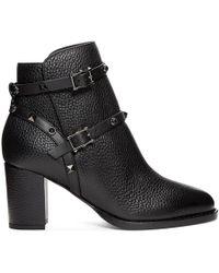 Valentino - Black Garavani Rockstud Block Heel Ankle Boots - Lyst