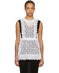 Isabel Marant - White Kyler Broderie Anglaise Top - Lyst