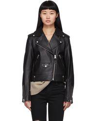 Mackage Baya R Leather Jacket - Black