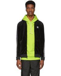 adidas Originals - Black Cozy Track Jacket - Lyst
