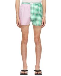 ERL & Green Wide Stripe Shorts - Pink