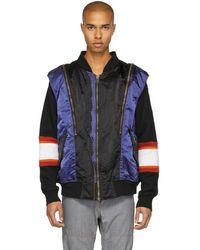 Facetasm   Black And Navy Zip Vest   Lyst