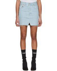 Vetements - Blue Levis Edition Denim Miniskirt - Lyst