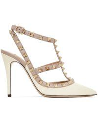 Valentino - Garavani 'rockstud' Court Shoes - Lyst