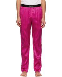 Tom Ford ピンク シルク パジャマ パンツ