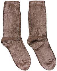 Ann Demeulemeester Copper Laminated Socks - Brown